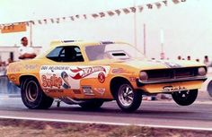 """Don """"The Snake"""" Prudhomme. Hot Wheels Plymouth Cuda funny car."""