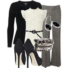 Casual - elegant office outfit