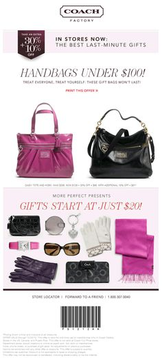 Extra 40% off at Coach Factory locations coupon via The Coupons App