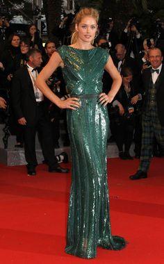 Doutzen Kroes in Elie Saab - Red Carpet Dresses at Cannes 2012 - Harper's BAZAAR