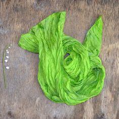 scarf silk green Scarf Fashion Scarf Fabric hand от batikelena