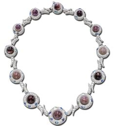Nicholas Varney Jewels ~ purple quahog pearl, diamond and blue moonstone necklace