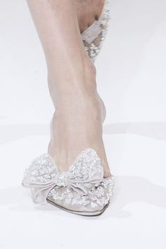 Gorgeous Summery White Lace Slip Ons