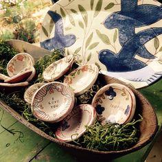 Local pottery! Blessing bowls and serving platter. www.artandsoulnc.com