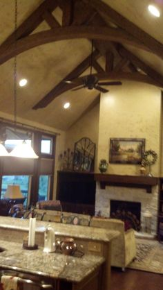 Stunning Arched Beam Ceiling Truss For Wood Beams With Recessed Lighting & Faux wood beams dress up a porch and because they hold up ... azcodes.com