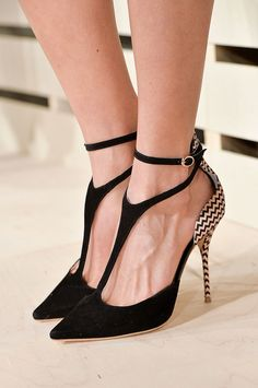 I'm not an ankle strap person ... but with these, I could make an exception.  J.Crew
