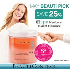Instant Manicure! 25% off through May 31st, 2013! Only $21! #BeautiControl #Manicure #Nails #Cuticles