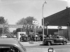 A-1 Used Cars. Vintage Ford Dealership