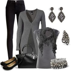 """""""Dressy Casual Grays"""" by smores1165 on Polyvore"""