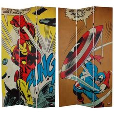 Oriental Furniture 7-Feet Tall Double Sided Captain America/Iron Man Canvas Room Divider - List price: $213.00 Price: $192.76 + Free Shipping