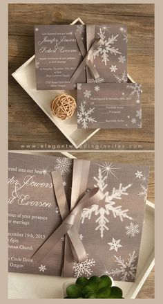 Never Underestimate The Influence Of Cheap Winter Wedding Invitations - cheap winter wedding invitations Christmas Wedding Invitations, Affordable Wedding Invitations, Wedding Invitation Cards, Invites Wedding, Invitation Ideas, Grey Winter Wedding, Winter Wonderland Wedding, Snow Wedding, Winter Wedding Receptions