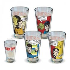 Star Trek Character Quotes Pint Glass Set of 4