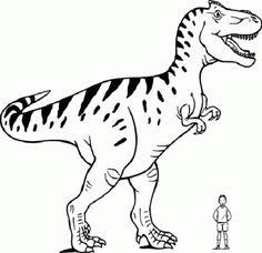 dibujos dinosaurios para colorear del t-rex