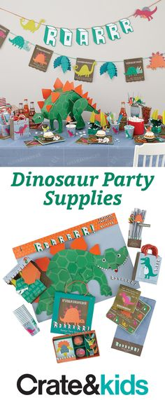These party supplies are so packed with dinosaur pals, they might just be the best in prehistory. Little ones will really roar for dino-themed cups, plates, decorations and so much more.