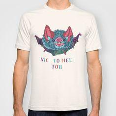 Nice to Meet You! T-shirt by Valeriya Volkova - $18.00 Women's in Pomegranate