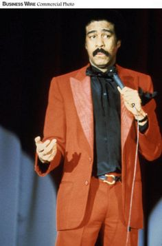Comedian Richard Pryor awarded the first Kennedy Center Mark Twain prize in 1998. #Movember #moustache #mustache