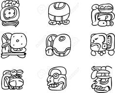 9873644-Mexican-aztec-or-maya-motifs-glyphs-Stock-Vector-mayan.jpg (1300×1054)
