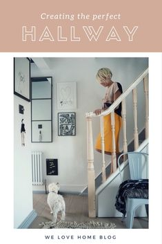 Scandi style makeover of a small hallway with tips on how to make the space look bigger by Interior Stylist Maxine Brady www.welovehomeblog.com www.maxinebrady.com