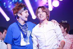 Dongwoo and Xiumin