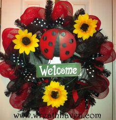 Wreath Haven   Ladybug Deco Mesh Wreath   Online Store Powered by Storenvy