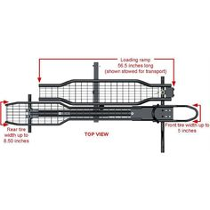 Dimensions of the motorcycle carrier. Motorcycle Carrier, Atv Trailers, Loading Ramps, Trailer Hitch Receiver, Wood Boat Plans, Motorcycle Trailer, Bookshelf Plans, Trailer Plans, Wood Boats