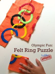 Toddler Approved!: Olympic Fun: Felt Ring Puzzle. Simple and perfect for celebrating the Opening Ceremonies. H