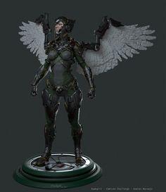 Hawkgirl Concept , Andres Naranjo on ArtStation at https://www.artstation.com/artwork/hawkgirl-concept-14f6e64d-7903-4fac-943e-0f172cd64474