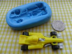 Racing car mould - perfect for cake decorating / fimo - go kart, Racing, Driving Go Kart Party, Go Kart Racing, Car Themes, Pinewood Derby, Cupcake Cakes, Cupcakes, Fast Cars, Cake Decorating, Scouts