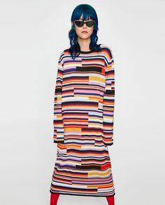 b81d5ac9bebd Image 2 of LONG STRIPED DRESS from Zara Färgrik, Vältränad, Tröjor, Kläder,