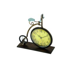 Laurel Creek Vintage Reflections Metal Penny-farthing Bicycle Clock - 13 x 12 (MTL Clock Black Bicycle Clock, Buy Bicycle, Retro Bicycle, Vintage Bicycles, Trike Bicycle, Old Fashioned Bike, Penny Farthing, Desktop Clock, Tabletop Clocks
