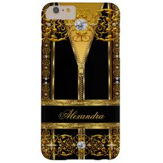 Elegant Black and Gold Zipper Diamond 2
