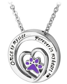 Forever in My Heart™ Purple Paw Necklace - On Sale! Was $14.95, now $10.00!  Every Purchase Funds Food and Care for Rescued Animals.  https://theanimalrescuesite.greatergood.com/store/ars/site