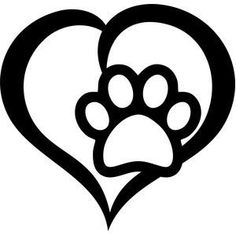 Love Paw Decal by AlphaDesignsKC on Etsy
