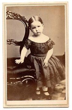 CDV 1860's Civil War Era Beautiful Little Girl Waterbury Conn Off Shoulder Dress   eBay