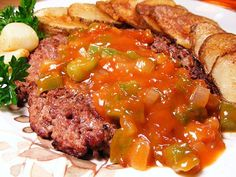 Jazzy Grill Burgers with Beer Sauce: Beef and beer for the ultimate cookout recipe!