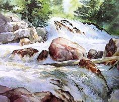 Les gris en aquarelle. Mélanges River-rocks