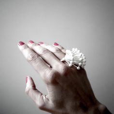Alert Double Finger Ring ••• 3D Printed Jewellery Inspired by Science ••• Pure White Nylon by Superlora3Designs on Etsy https://www.etsy.com/listing/500162914/alert-double-finger-ring-3d-printed