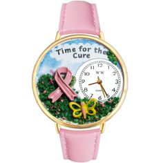 Time for the Cure Watch in Gold (Large)