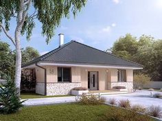 Elka 2 projekt domu - Jesteśmy AUTOREM - DOMY w Stylu Home Fashion, Bungalow, Outdoor Structures, House Design, Mansions, House Styles, Outdoor Decor, Houses, Home Decor