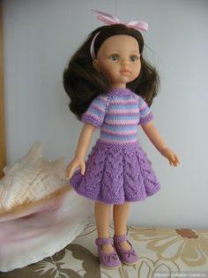 Платье для любимой девочки Паола 32-34 см сирень / Одежда для кукол / Шопик. Продать купить куклу / Бэйбики. Куклы фото. Одежда для кукол