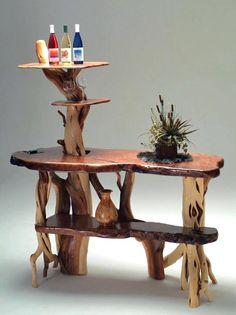 Freestanding Redwood & Juniper Bar - Item # BAR00954 - Customizable