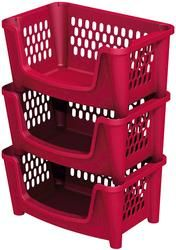 today i bought this set of 3 stacking bins in purple at menards for