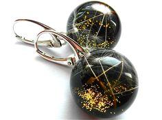 Ohrringe mit Pusteblumesamen – schwarz von Grol -Jewellery auf DaWanda.com
