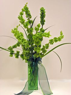 Bells of Ireland have a fabulous sculptural quality - great alone or in bouquet with other flowers. Another way to bring things Irish into the wedding for Mom :-) They are also considered a very lucky flower and often given to people starting a new adventure in life.
