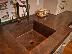 Custom antique copper sink by Focal Metals