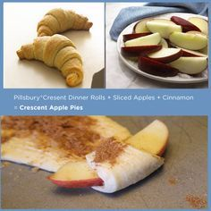Pillsbury® Crescent Rolls + Sliced Apples + Cinnamon = Crescent Apple Pies | 15 Delicious Things You Can Stuff In A Crescent Roll