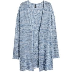 Fine-knit Cardigan $12.99 ($9.99) ❤ liked on Polyvore featuring tops, cardigans, jackets, fine knit cardigan, long sleeve tops, cardigan top, h&m tops and blue long sleeve top