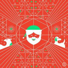 SUNday SUN No. 083 by Tad Carpenter - In honor of Christmas