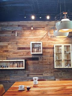 Wooden wall. Possibilities to our living room wall.