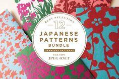 12 BEST JAPANESE PATTERNS BUNDLE by JAPANESE MON on @creativemarket - FREE Until 01/29/2017.